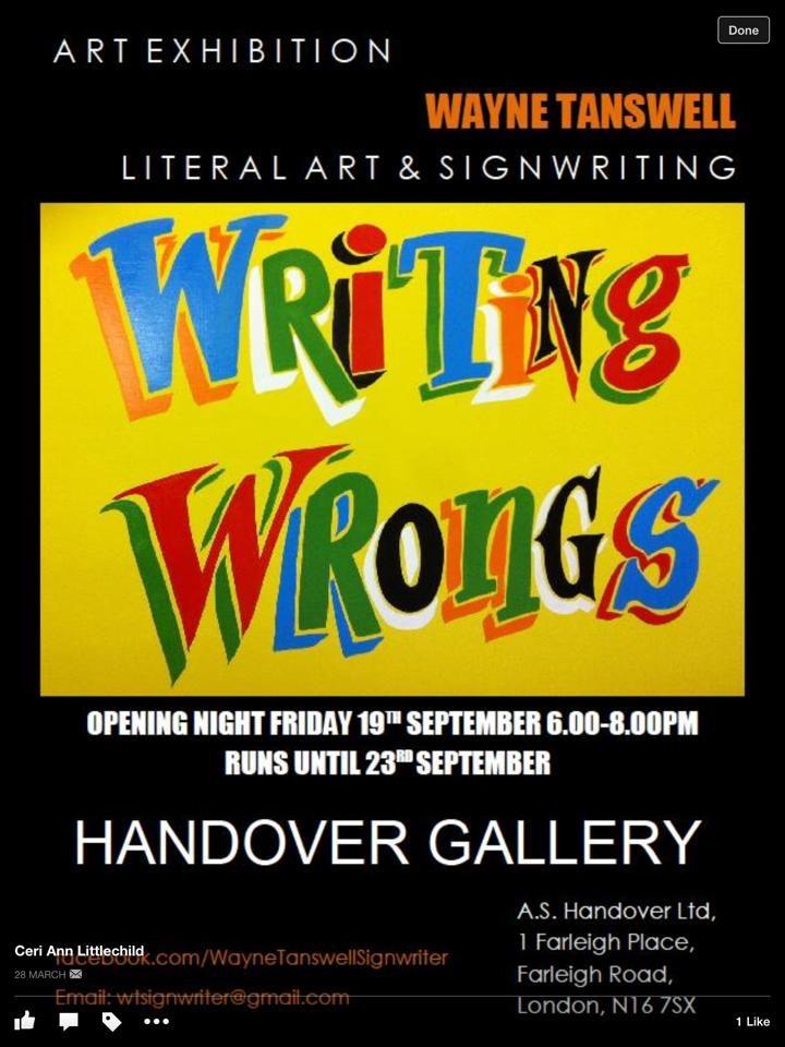 Handover Gallery, London